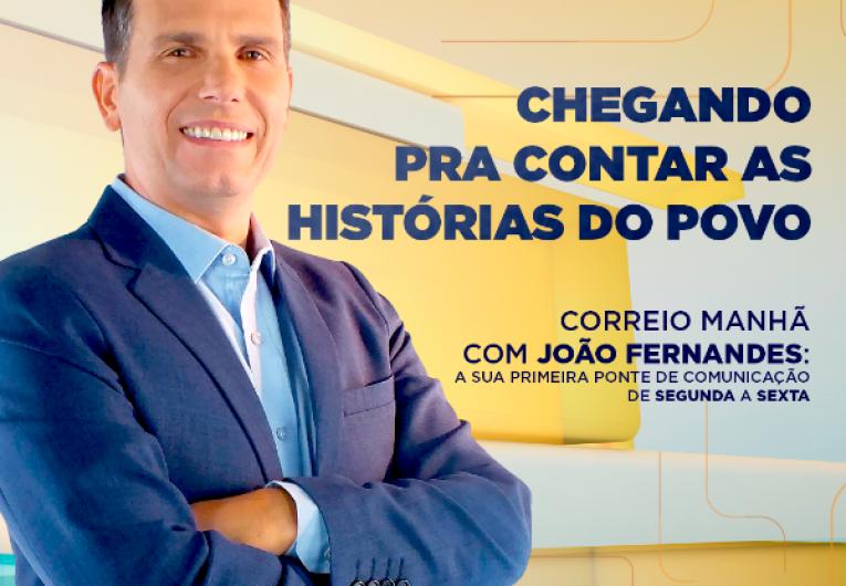 Conheça João Fernandes, novo apresentador do Correio Manhã, da TV Correio